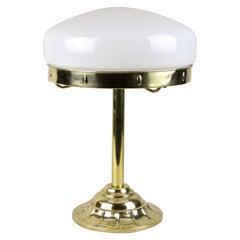 Art Nouveau Brass Table Lamp, Design Attributed to J. Hoffmann, Austria ca. 1905