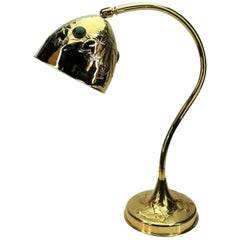 Art Nouveau Brass Table Lamp with Glass Cabochons, 1910