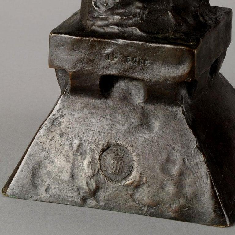 Art Nouveau Bronze Bust