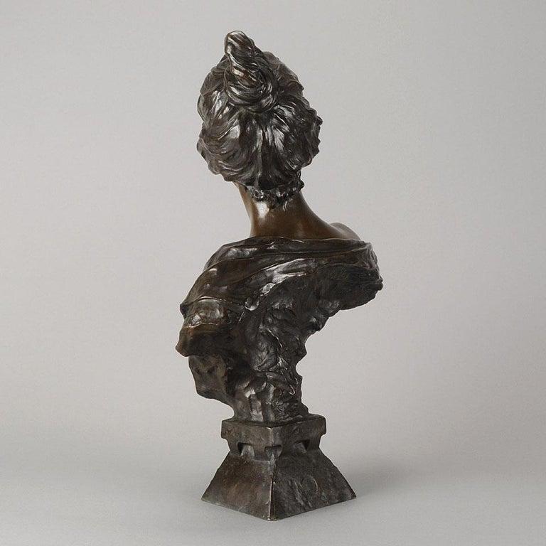 19th Century Art Nouveau Bronze Bust