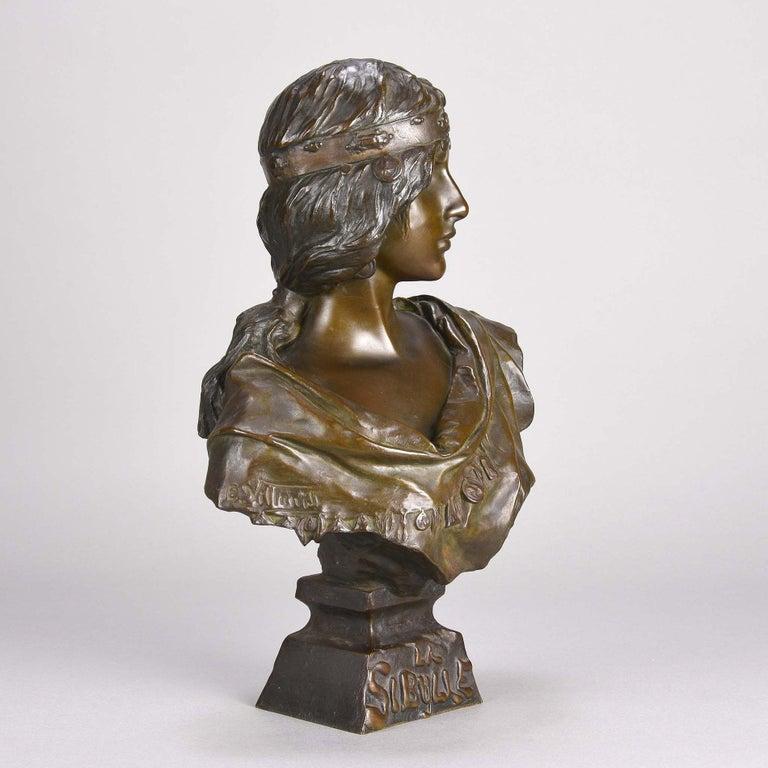 French Art Nouveau Bronze Bust