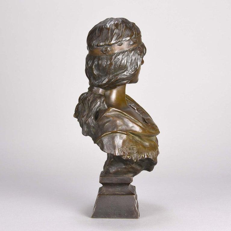 Cast Art Nouveau Bronze Bust