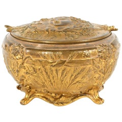 Art Nouveau Bronze Covered Decorative Box