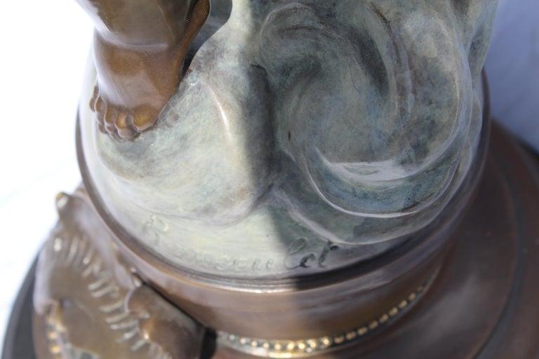 Art Nouveau Bronze, Double Figures, Large, Title is 'The Triumphator' For Sale 7