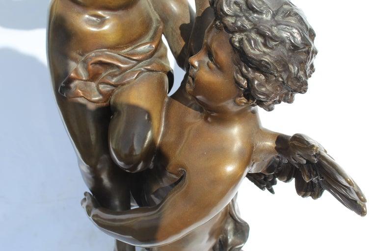 Late 20th Century Art Nouveau Bronze, Double Figures, Large, Title is 'The Triumphator' For Sale