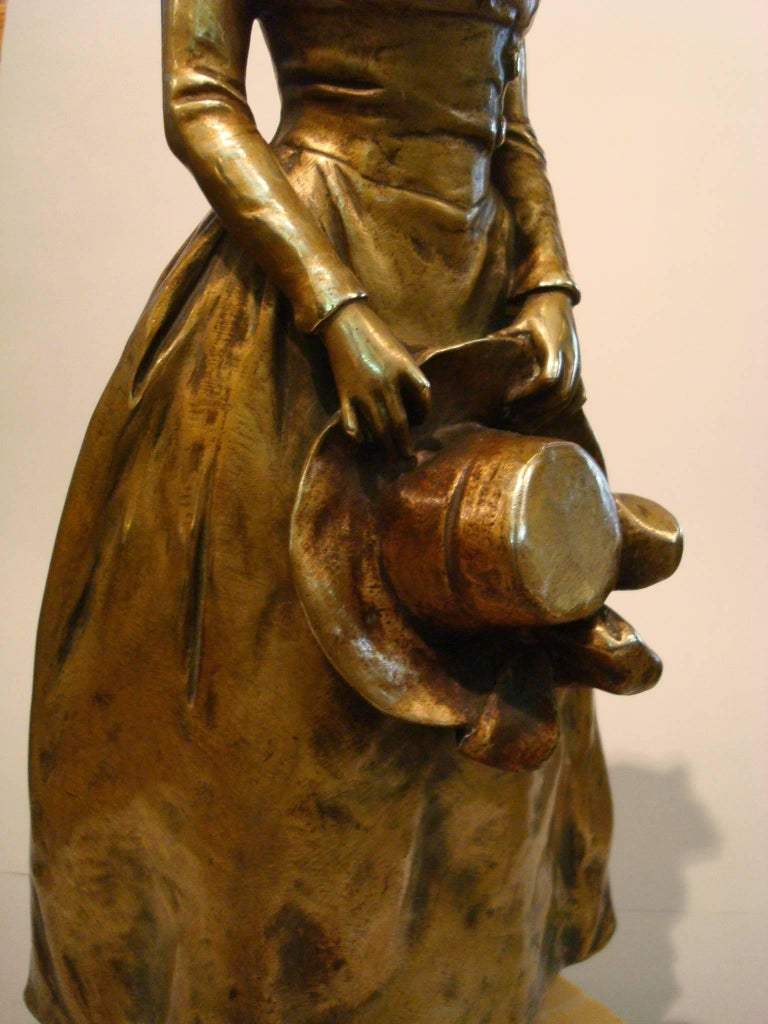 Belgian Art Nouveau Bronze