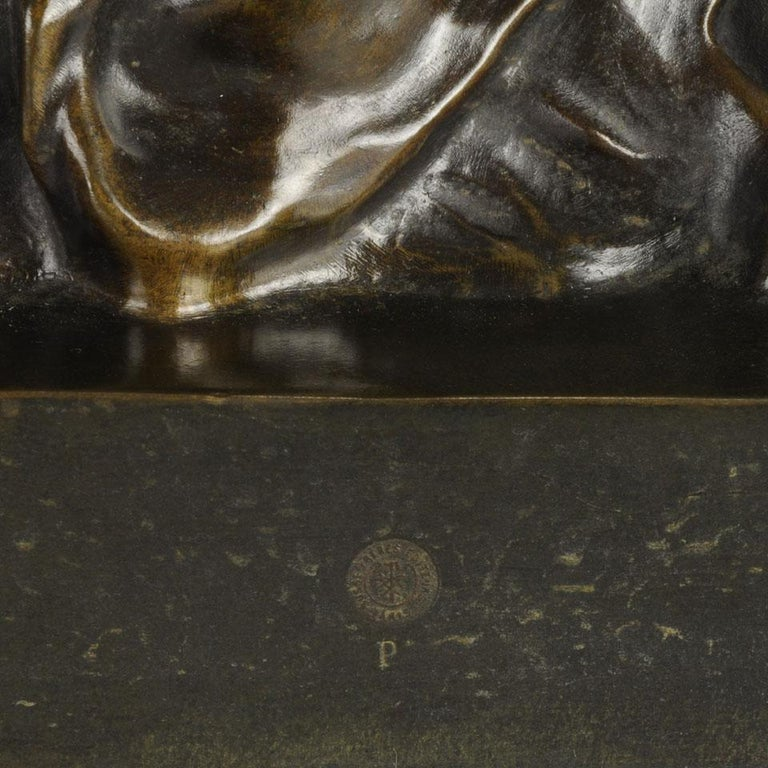 Art Nouveau Bronze Entitled 'Nature Unveiling Her Secrets to Science' by Barrias For Sale 5