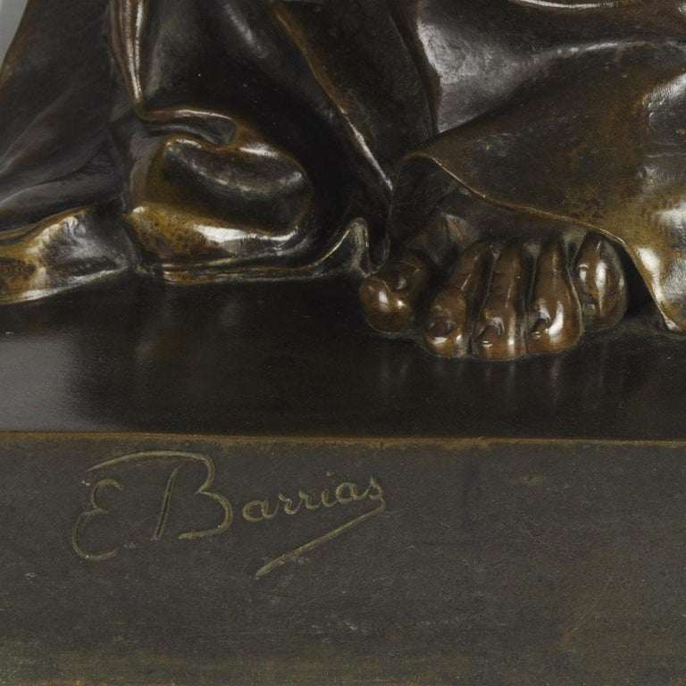 Art Nouveau Bronze Entitled 'Nature Unveiling Her Secrets to Science' by Barrias For Sale 3