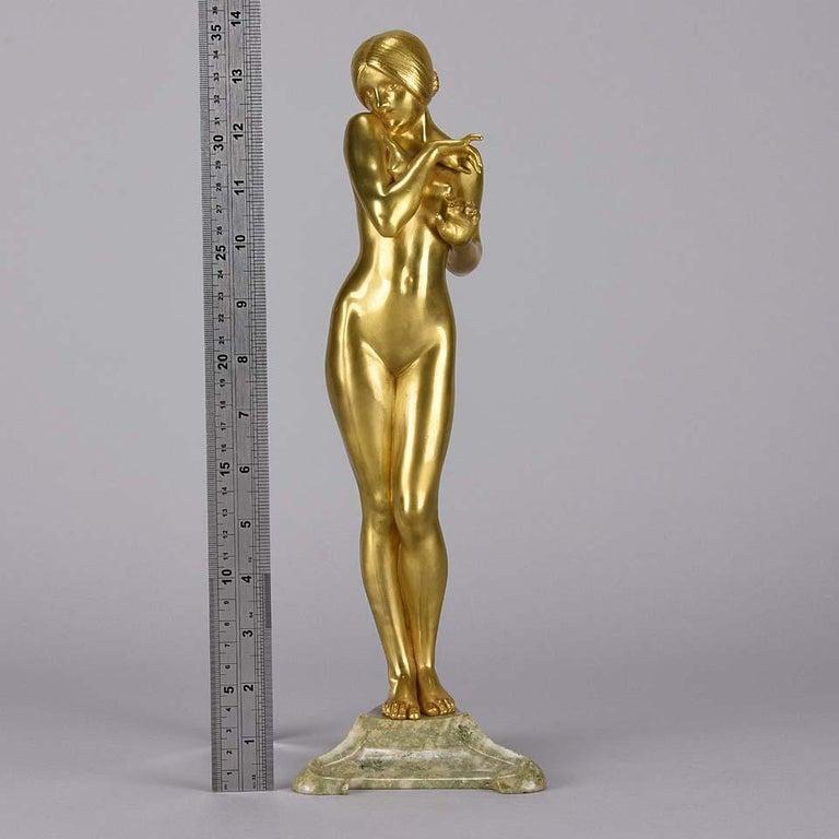 Art Nouveau Bronze 'La Femme Nue' by Louis Chalon For Sale 4