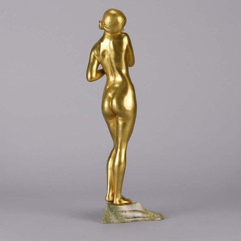 Cast Art Nouveau Bronze 'La Femme Nue' by Louis Chalon For Sale