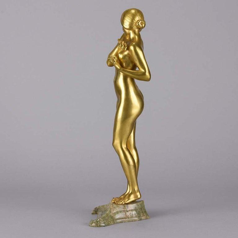 Art Nouveau Bronze 'La Femme Nue' by Louis Chalon For Sale 1
