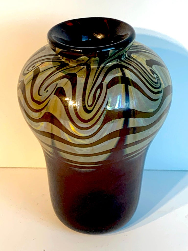 Art Nouveau Bronze Mounted Loetz Vase, Stamped Made in Austria For Sale 3