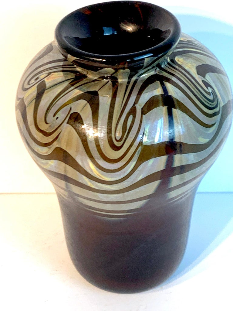 Art Nouveau Bronze Mounted Loetz Vase, Stamped Made in Austria For Sale 4