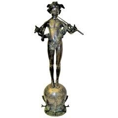 Art Nouveau Bronze 'Pan of Rohallion' by Fredrick William Mac Monies, 1890