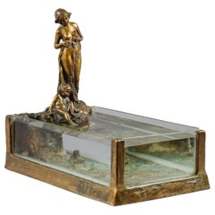 Art Nouveau Bronze Sculptural Aquarium