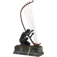 Art Nouveau Bronze Sculpture