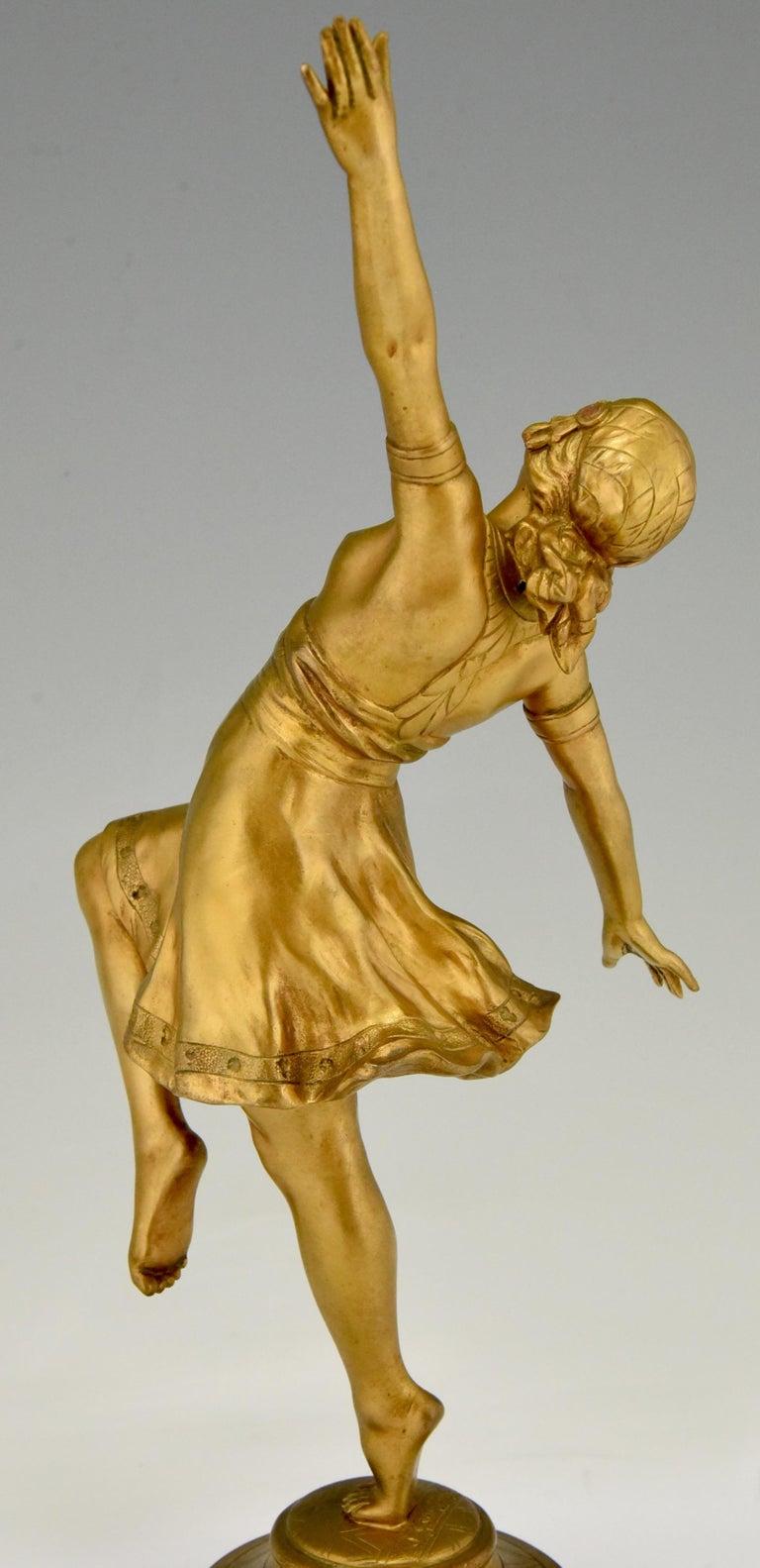 Art Nouveau Bronze Sculpture Oriental Dancer Jean Garnier, France, 1900 For Sale 6
