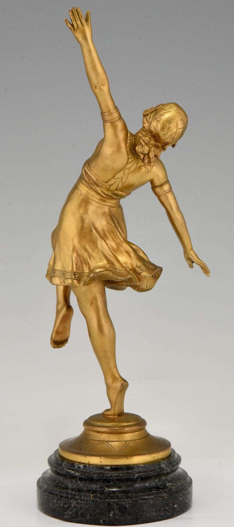 Art Nouveau Bronze Sculpture Oriental Dancer Jean Garnier, France, 1900 In Good Condition For Sale In Antwerp, BE