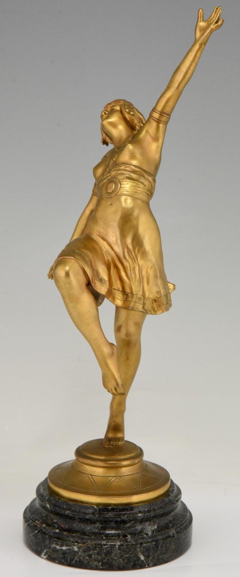 Art Nouveau Bronze Sculpture Oriental Dancer Jean Garnier, France, 1900 For Sale 1