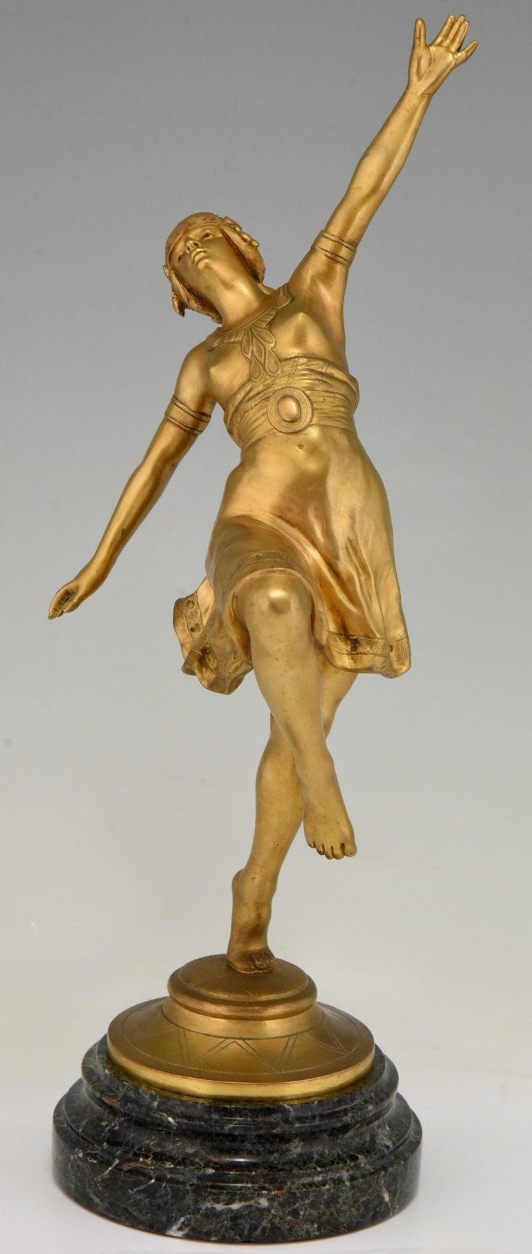 Art Nouveau Bronze Sculpture Oriental Dancer Jean Garnier, France, 1900 For Sale 2