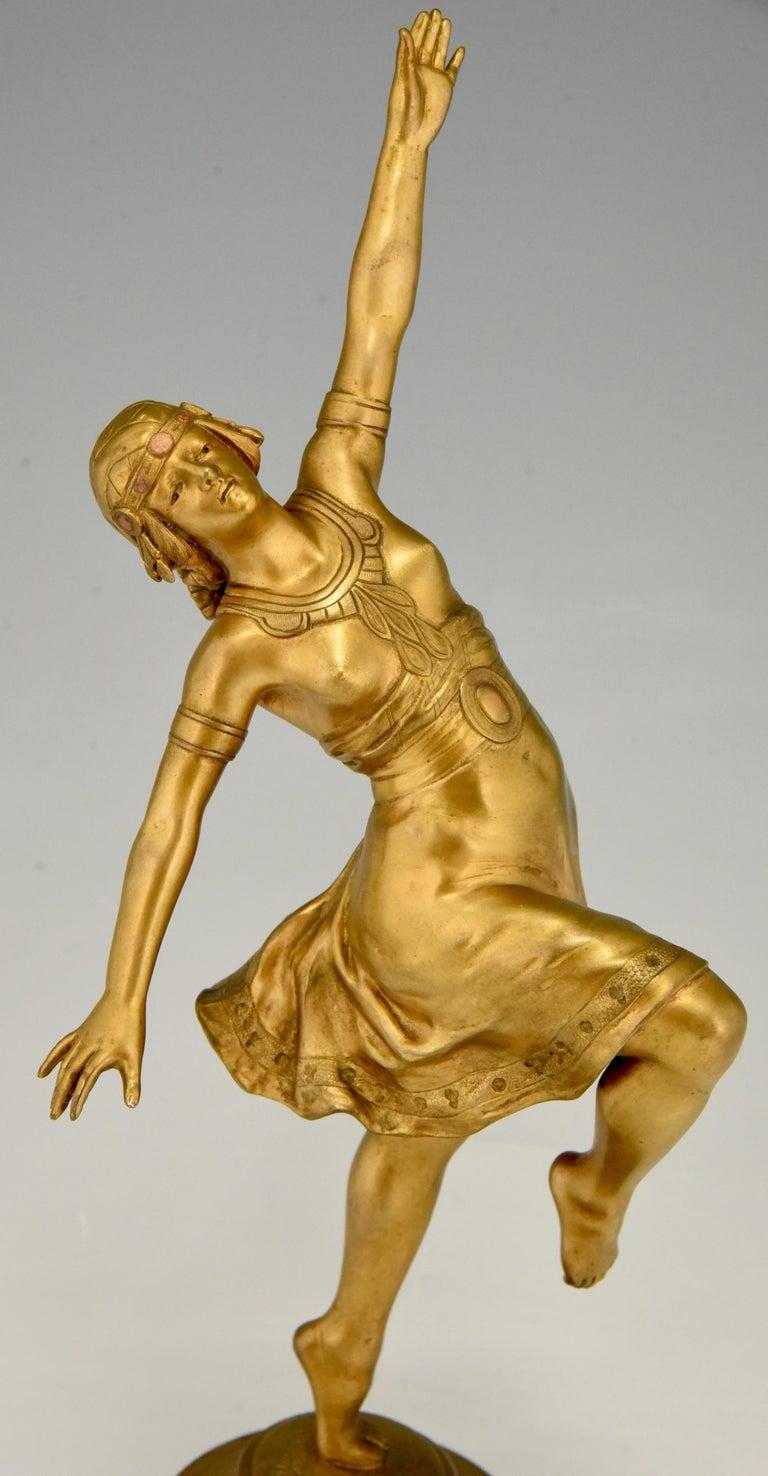 Art Nouveau Bronze Sculpture Oriental Dancer Jean Garnier, France, 1900 For Sale 3