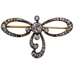 Art Nouveau Brooch Pendant Gold 14 Carat Diamonds (2.50 Carat), circa 1900
