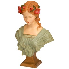 Art Nouveau Bust of a Young Girl
