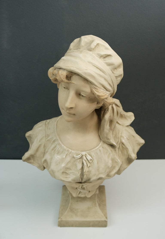 Art Nouveau Bust Young Girl France For Sale 6
