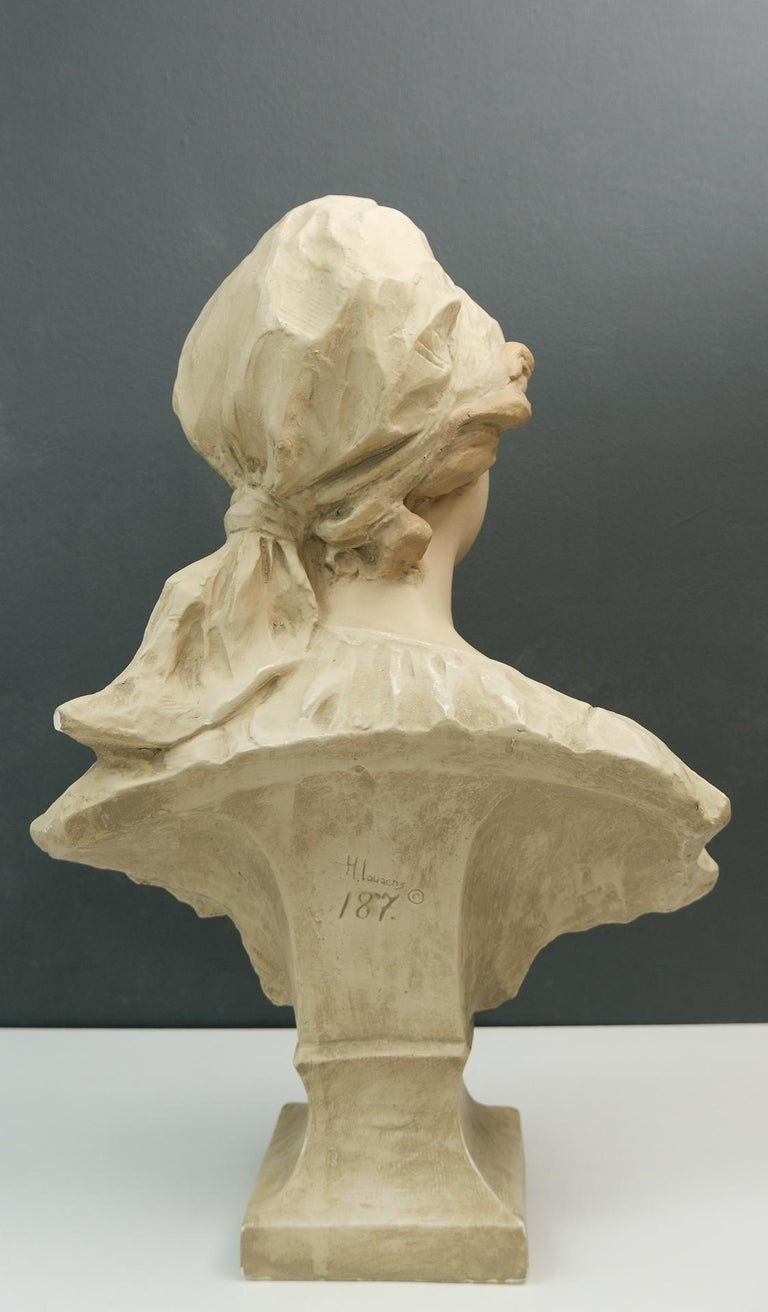 Art Nouveau Bust Young Girl France For Sale 1
