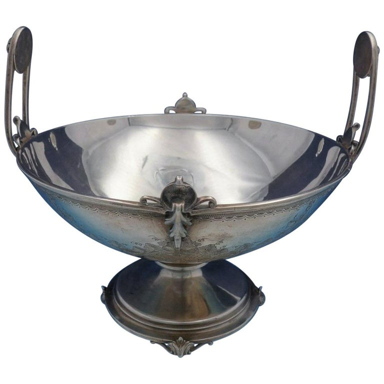 Art Nouveau by Ball Black and Co .950 Silver Centerpiece Bowl with Grapes For Sale
