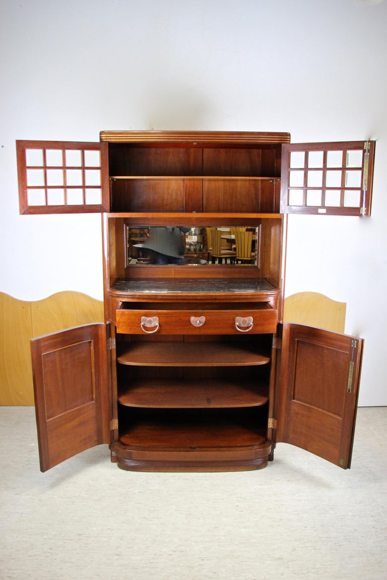 Art Nouveau Cabinet or Buffet by August Ungethüm Mahogany, Austria, circa 1900 For Sale 7