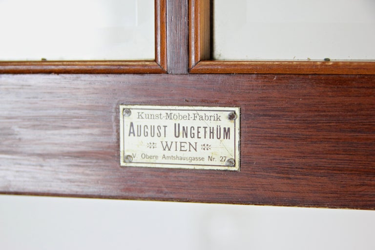 Art Nouveau Cabinet or Buffet by August Ungethüm Mahogany, Austria, circa 1900 For Sale 8