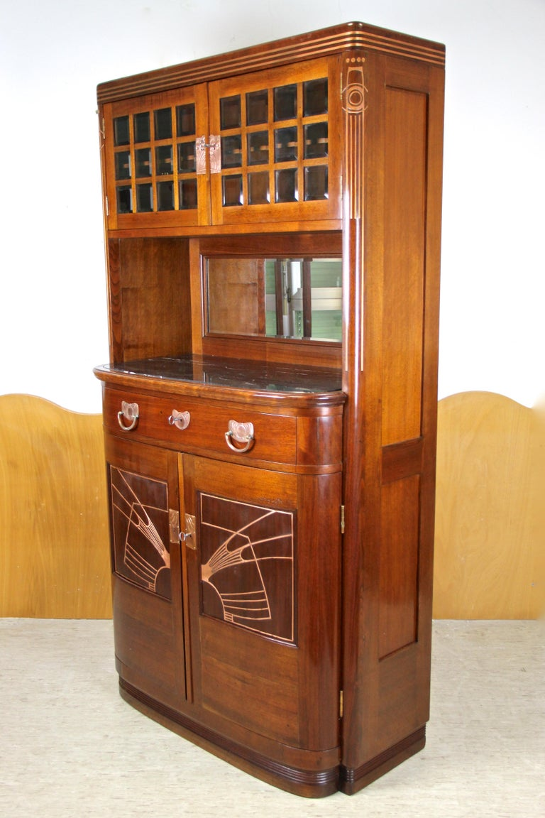 Art Nouveau Cabinet or Buffet by August Ungethüm Mahogany, Austria, circa 1900 For Sale 10