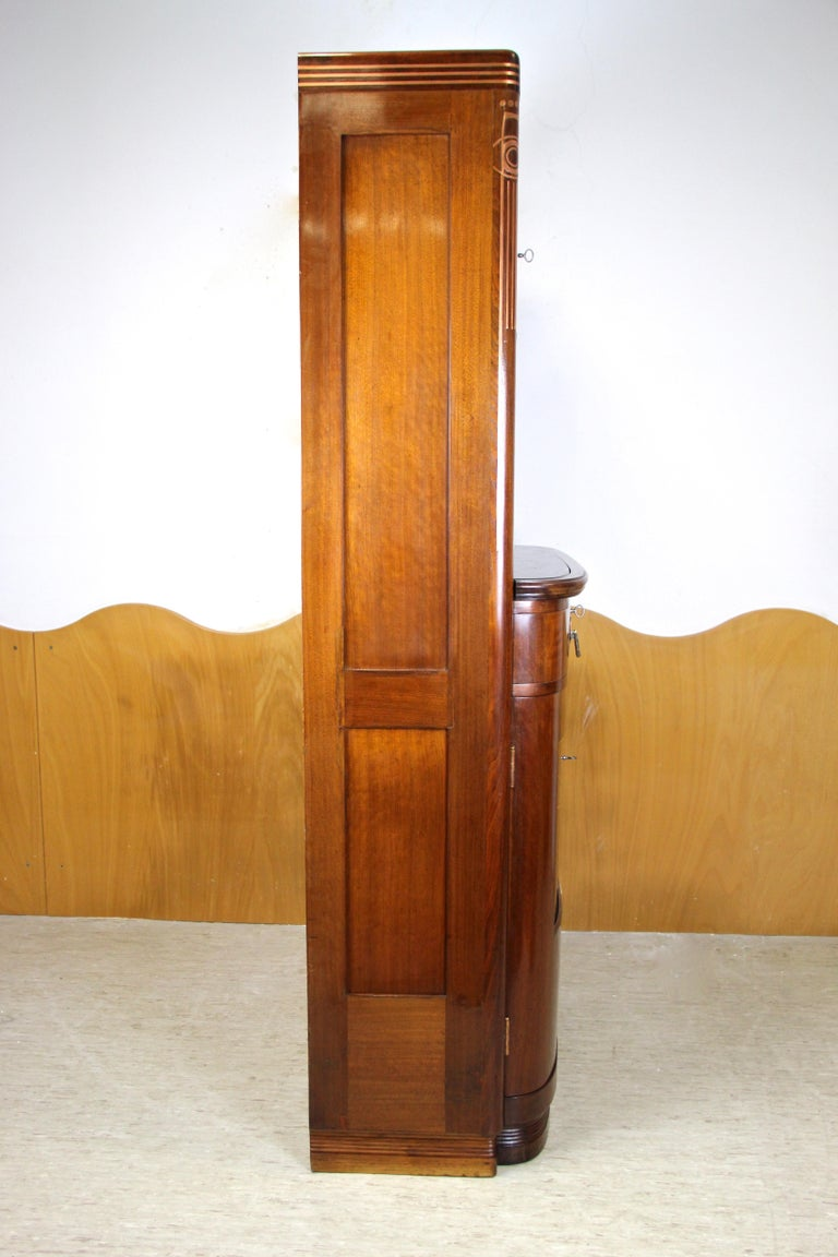 Art Nouveau Cabinet or Buffet by August Ungethüm Mahogany, Austria, circa 1900 For Sale 12