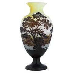 Art Nouveau Cameo Glass Vase by Gallé