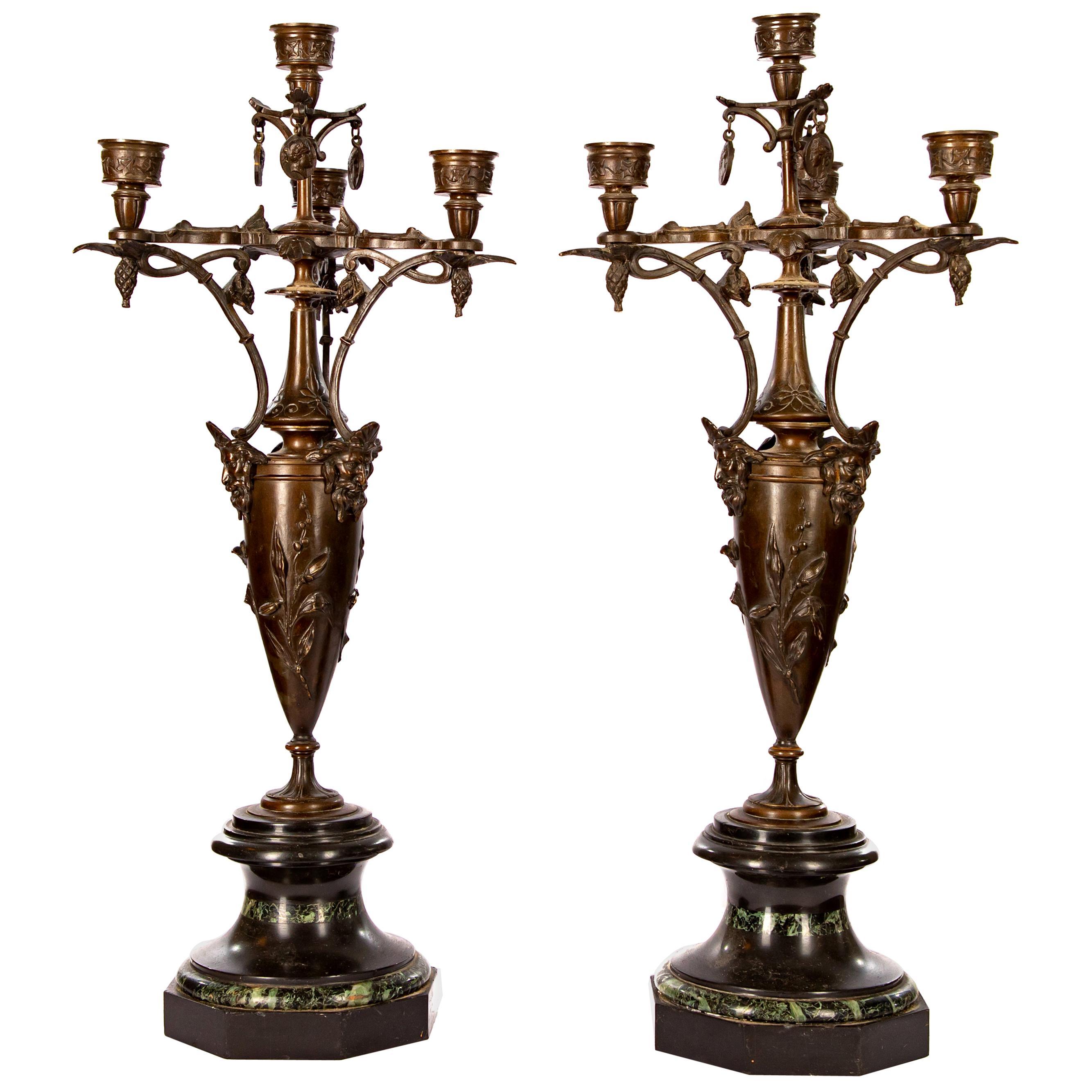 Art Nouveau Candelabras, Pair