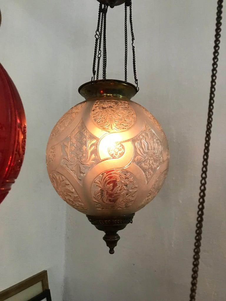 Art Nouveau Candle Lantern by Baccarat, France, circa 1890-1920 For Sale 5