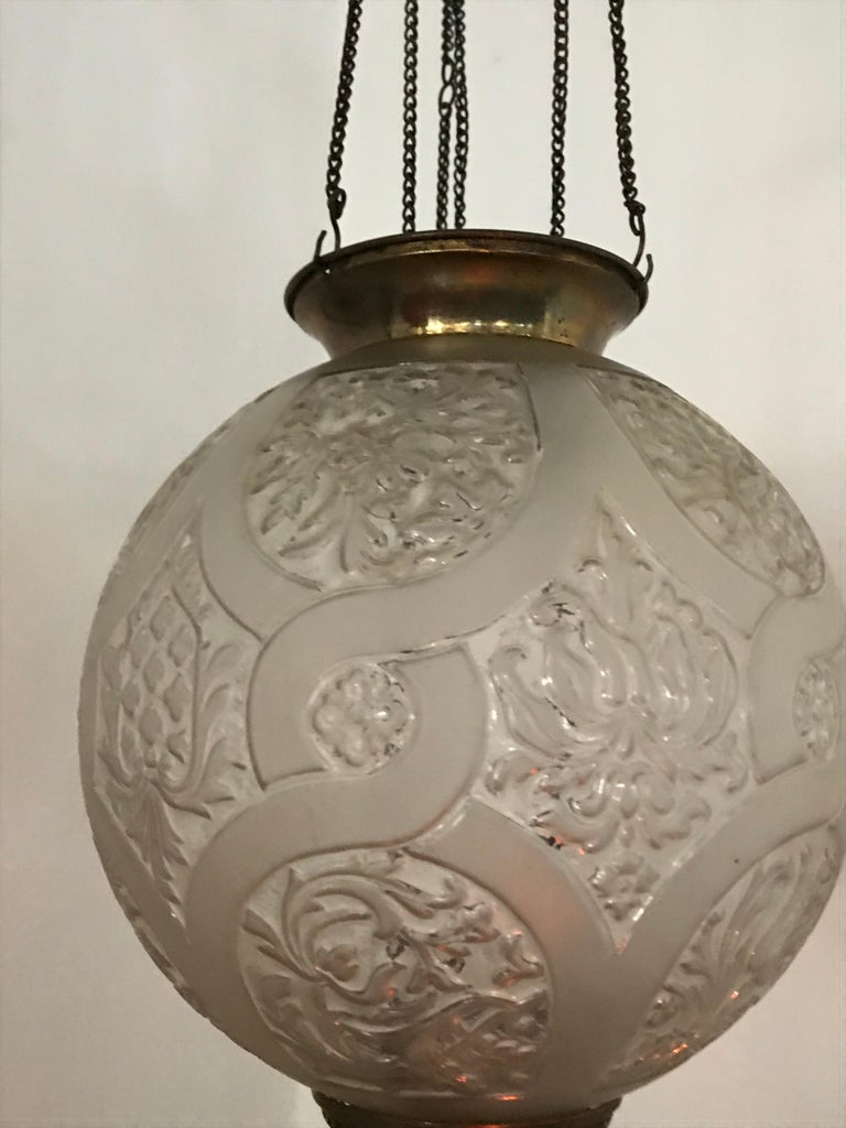 Late 19th Century Art Nouveau Candle Lantern by Baccarat, France, circa 1890-1920 For Sale