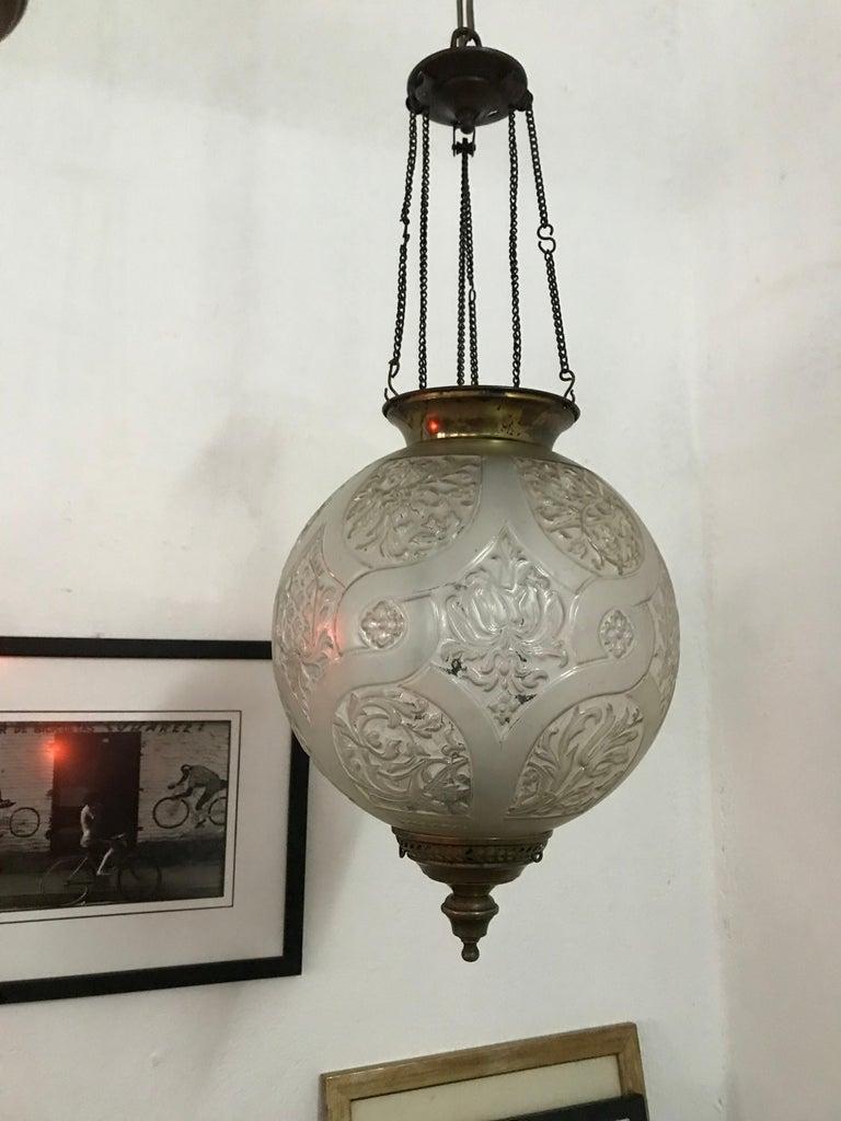 Art Nouveau Candle Lantern by Baccarat, France, circa 1890-1920 For Sale 3