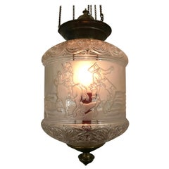 Art Nouveau Candle Lanterns by Baccarat France, Made for the Russian Market