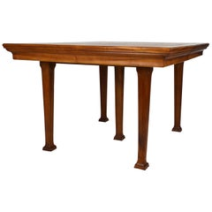 Art Nouveau Carved Walnut Dining Table, circa 1905, Attributed to Georges Nowak