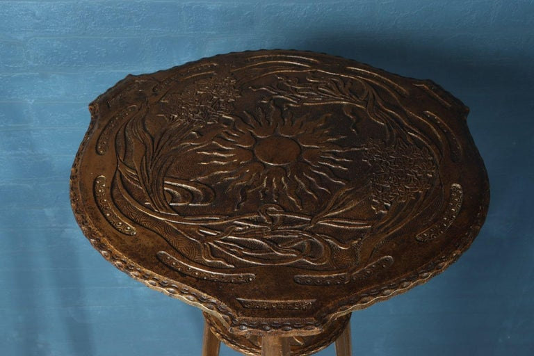 French Art Nouveau Cast Iron Jardinière Stand For Sale