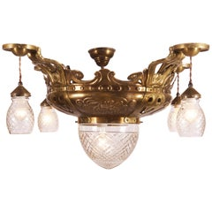 Art Nouveau Ceiling Lights Flush Mounth Lamp