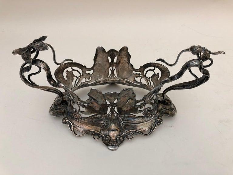 Silver Plate Art Nouveau Centrepiece For Sale