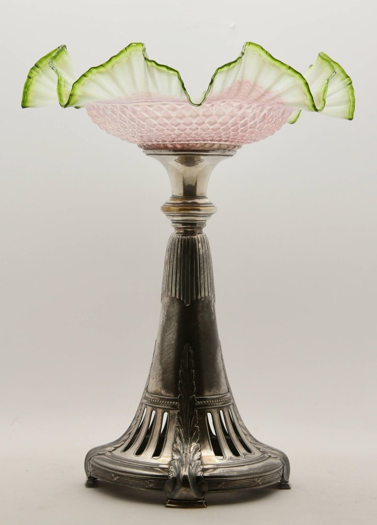 Hand-Crafted Art Nouveau Centrepiece 'Signed' Manufactured by Kayser in Germany, circa 1900 For Sale