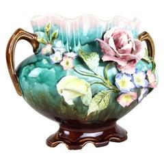 Art Nouveau, Keramik Jardinière, Frankreich, um 1900