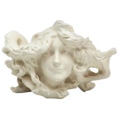 Art Nouveau Ceramic Nymph by Lambert Escaler for BD Editions, circa 1900