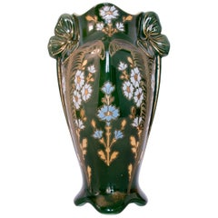 Art Nouveau Green Ceramic Vase, circa 1920
