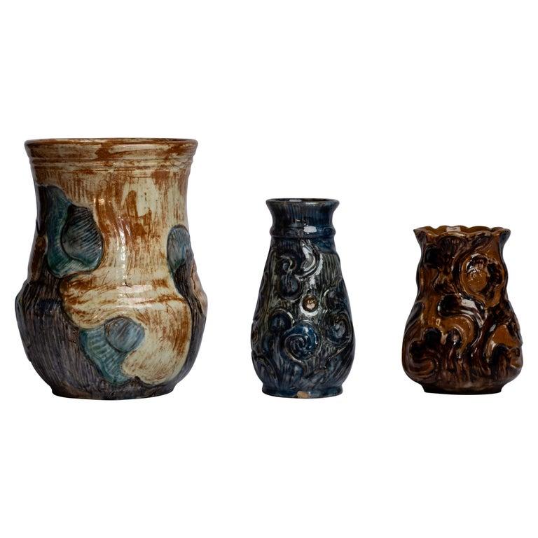Art Nouveau Ceramics by Danish Møller & Bøgely, 1910s For Sale