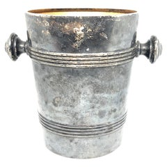 Art Nouveau Champagne Cooler Ice Bucket Silver Plated August Wellner, Germany